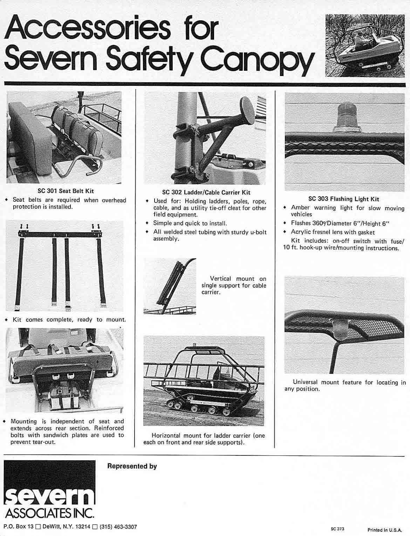 severn canopy accessories  sc 1 st  cushman trackster.com & cushman trackster.com -- accessories